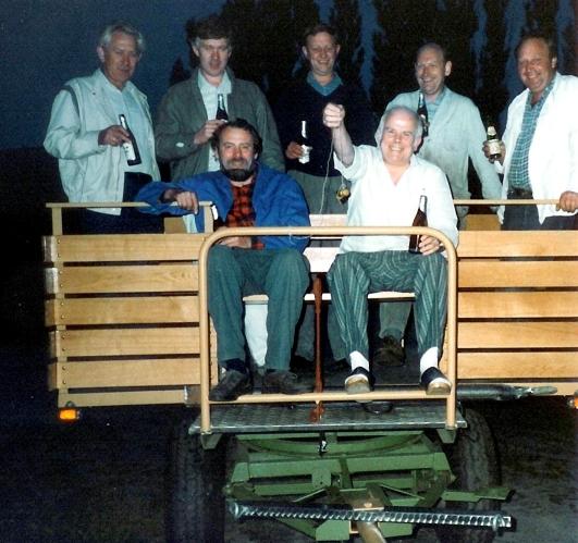 Hintere Reihe von links:Schmidt Heinz, Gerdes Peter, Brinkmann Bernd, Kalmer Josef, Siepker Hans Vordere Reihe von links: Kenning Herman, Placke Hubert